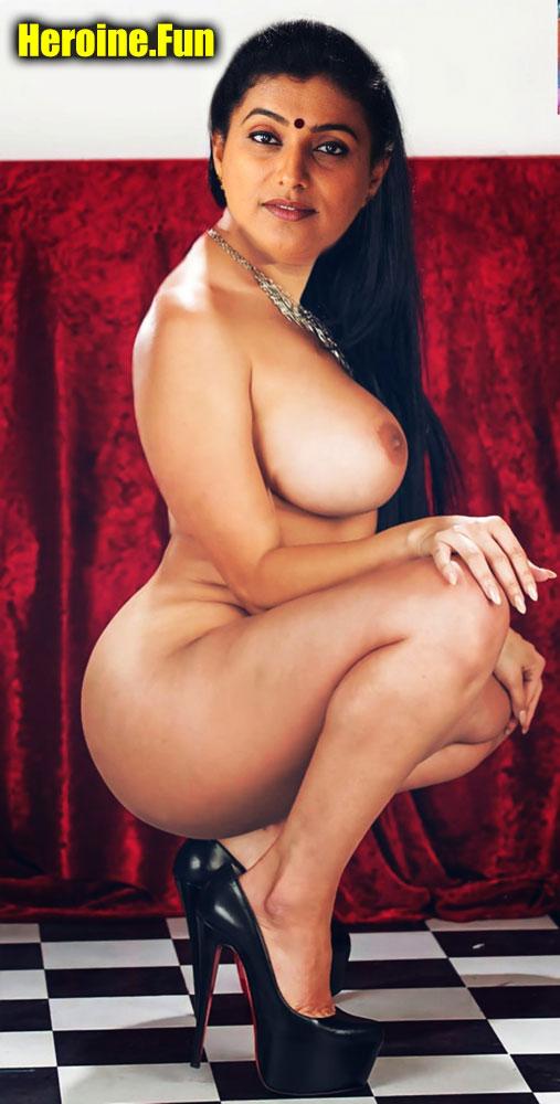 Full nude Milf actress Roja aunty big boobs fat ass free edit pic