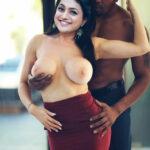 Old actress Roja topless big milk tank boobs pressed image