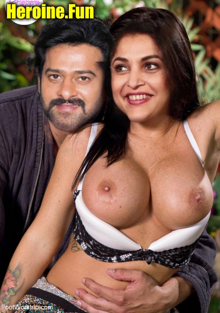 Prabhas pose with Ramya Krishnan big boobs nude free fake porn