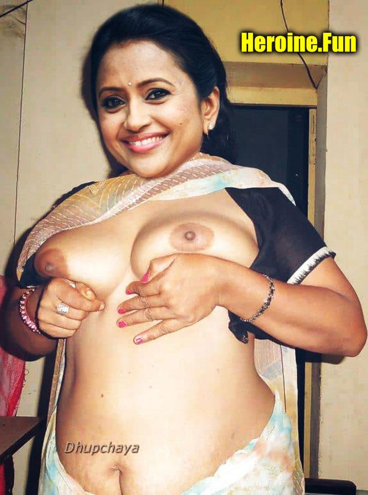 Suma Kanakala aunty small boobs open blouse nude black nipple free pic